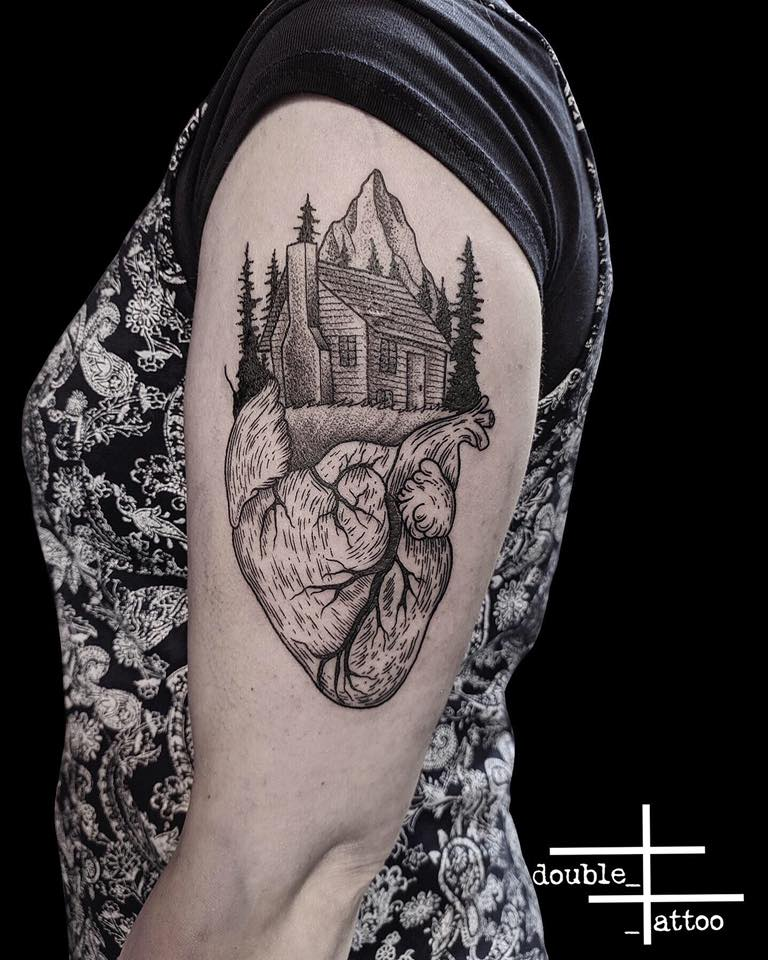 Portfolio of our tattoo artist Filippo, who specializes in black & gray, linework, trash polka and small tattoos