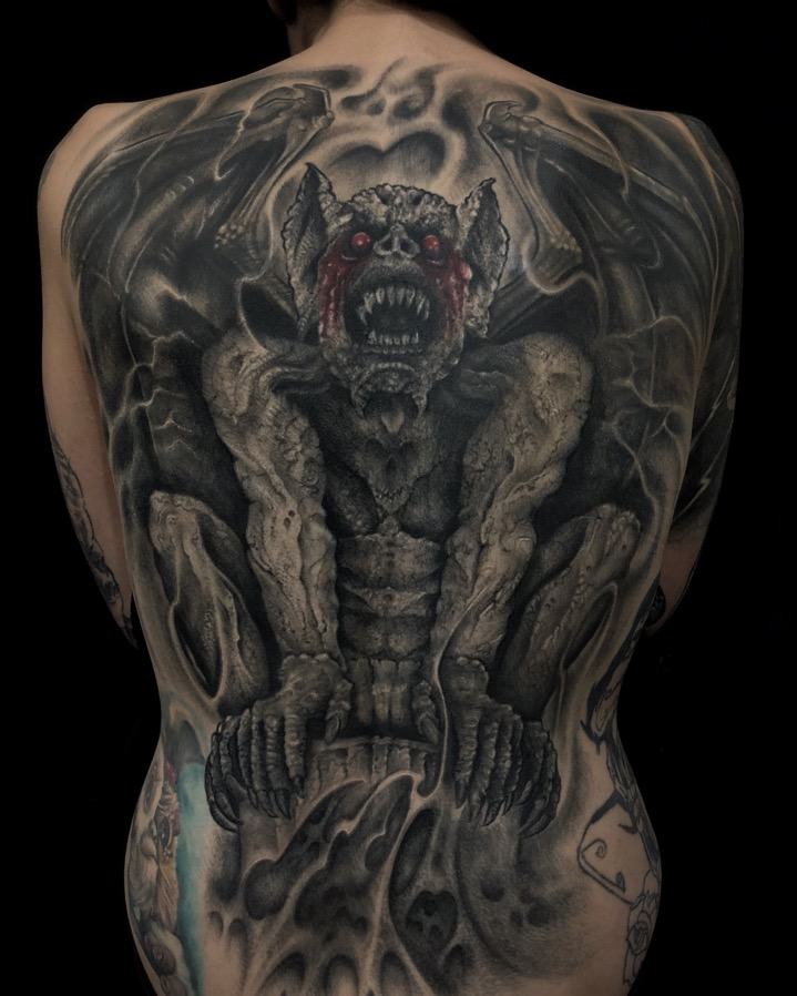 Portfolio of our tattoo artist Mauro, who specializes in biomechanical, bio-organic and dark realistic tattoos
