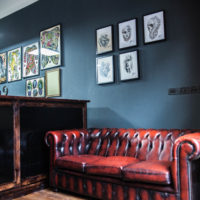 Interior shot of Unholy Tattoo Studio Prague