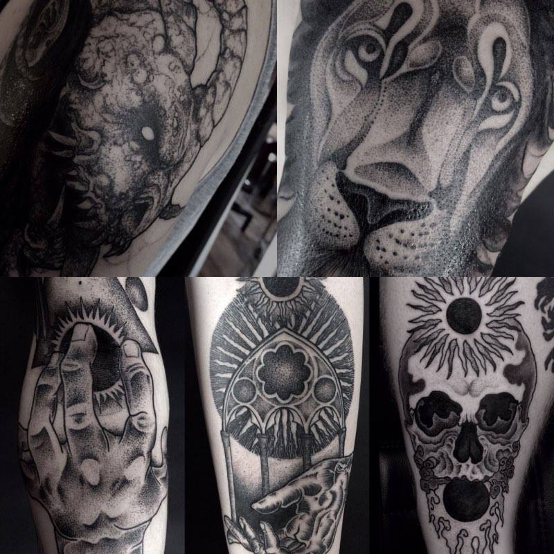Portfolio of our tattoo artist Svart, who specializes in dotwork, blackwork and  geometric tattoos