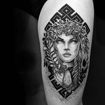 Portfolio of our tattoo artist Marta, who specializes in blackwork and sketch style tattoo